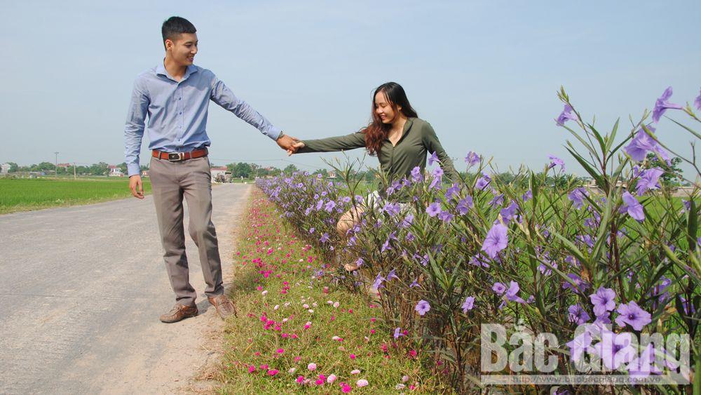 Việt Yên: Nối dài những đường hoa